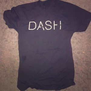 Dash t shirt from the store dash owned by kourtney